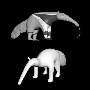 anteater body eyes model