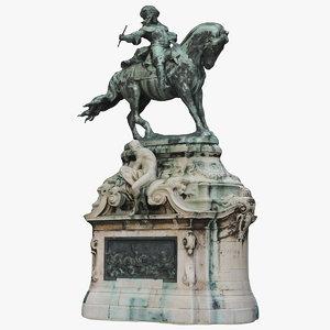 savoyai prince horse 3D model