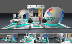 3D model exhibition stand