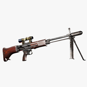 german fg-42 weapon rifle 3D model