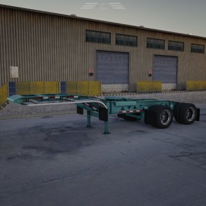 bws oilfield jeep trailer 3D model