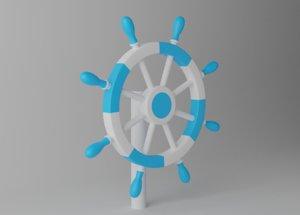 ships steering wheel 3D model