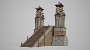 3D ancient sacrificial altar