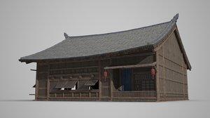 asian ancient architecture 3D model