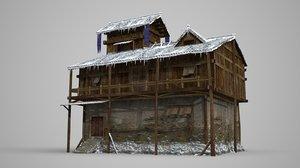 ancient dwellings shops 3D model