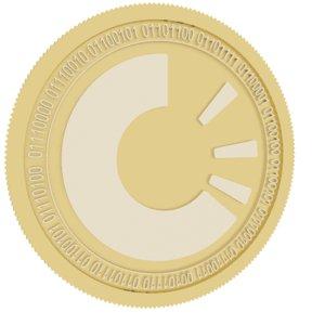 origintrail gold coin 3D model