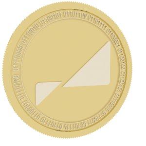 pareto network gold coin 3D model