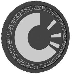 3D origintrail black coin model