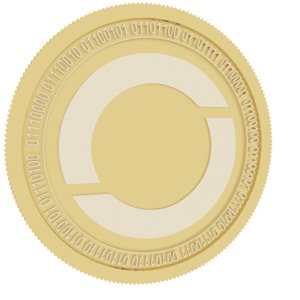 oxycoin gold coin 3D model