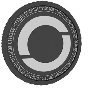 oxycoin black coin 3D model