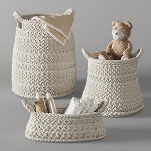 3D pottery barn ivory chunky model