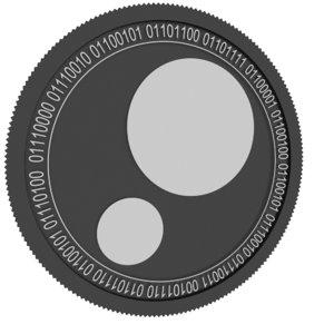 pinkcoin black coin 3D