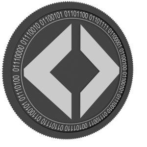 pixby black coin 3D model