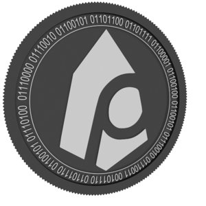 peos black coin 3D