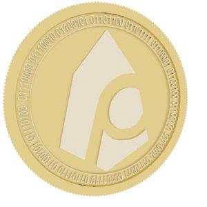 peos gold coin 3D model