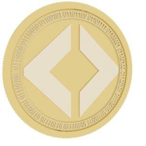 3D pixby gold coin