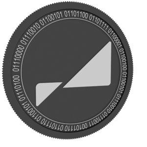 3D model pareto network black coin