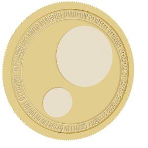 3D pinkcoin gold coin model