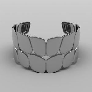 silver bracelet 3D
