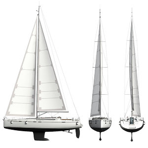 cruise yacht sail 3D model