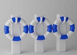 swim ring 3D model