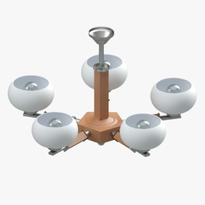 3D model chandelier lighting lamp