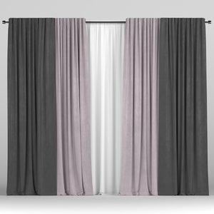 3D tulle curtain