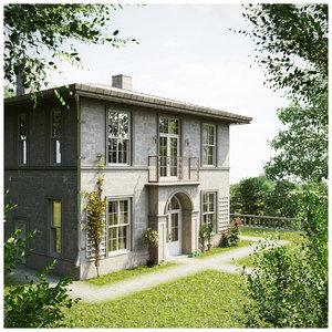 vintage cottage provence style 3D model