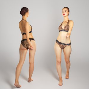 3D model photogrammetry human beautiful young woman