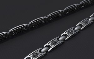 3D jewellery link bracelet