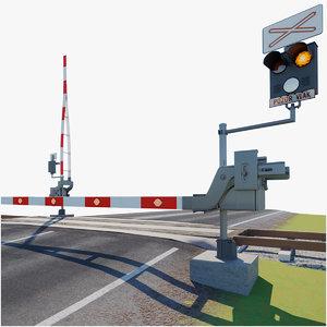 3D railroad model