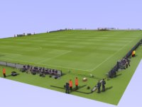 PES Football Field And Staff Template