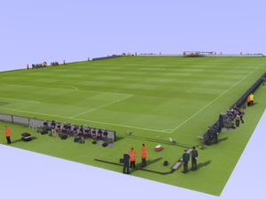 3D model template soccer pes staff