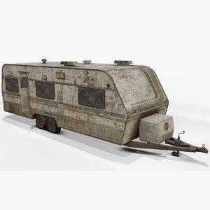3D abandoned caravan model