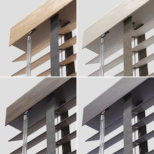 3D wood venetian blinds