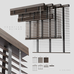 3D wood venetian blinds