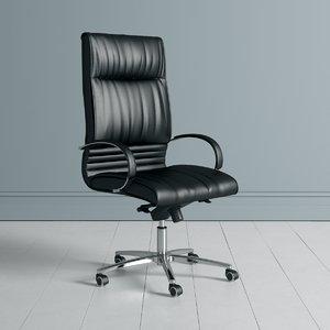 3D business office chair model