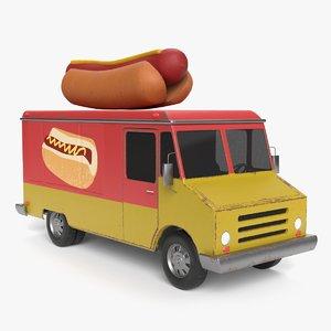 3D hot dog truck