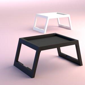 3D folding tray table