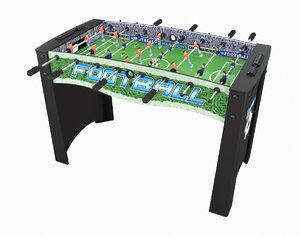 3D table football model