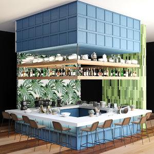 3D design cafes restaurants bars