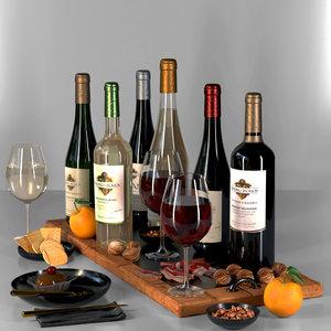 wine 3D model