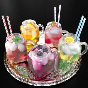 3D model alcohol cocktail
