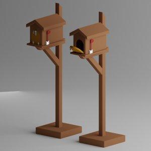 3D wooden mailbox