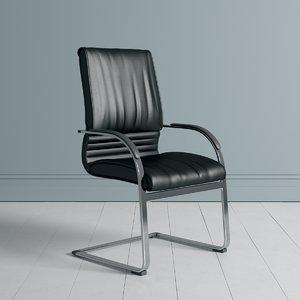 3D business class visitors chair