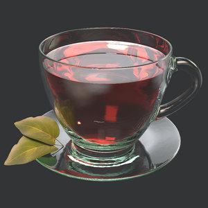 3D tea cup teacup