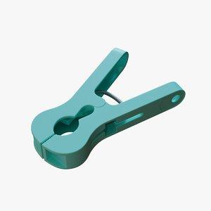 clothespin blender 3D model