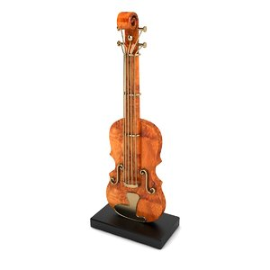violin decor 3D model