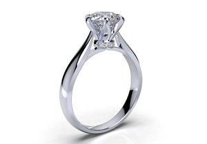 engagement ring solitaire diamond render model