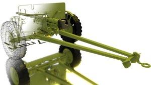3D ww2 37mm gun